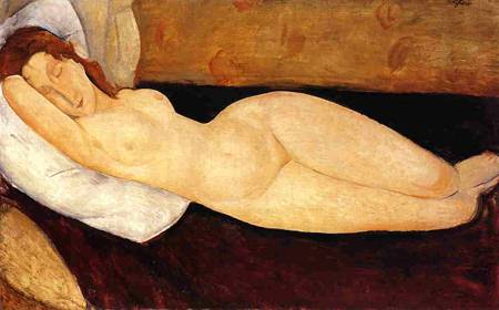 Nude on Sofa, painting by Amedeo Modigliani, circa 1915