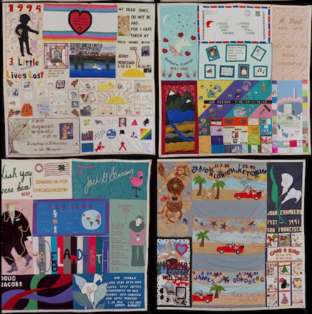 Panels from AIDS Memorial Quilt: National AIDS Memorial, and NAMES Project