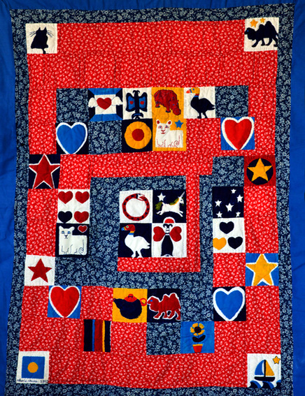 Untitled quilt for Joshua (1981), by Alexis Rhone Fancher