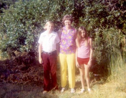 Family snapshot, Biederman kids, 1960s road trip: photographer unknown