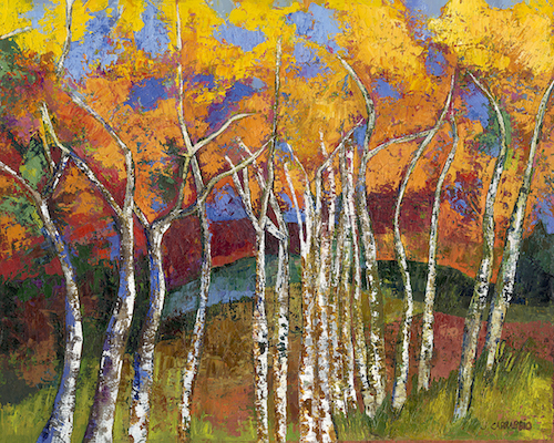 Aspen Trees in Fall: oil painting by Joann Carrabbio