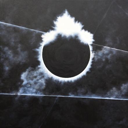 Corona 5: monochrome visual art by Richard Cole