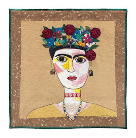 Frida Kahlo: Art Quilt (2018) by Michael A. Cummings