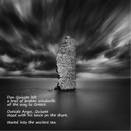 Don Quixote on the Shore: poem by Gary S. Rosin and photo by George Digalakis