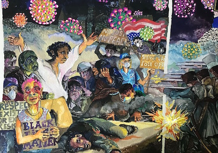 By the Rockets' Red Glare: Painting (2020) by MaRco Elliott