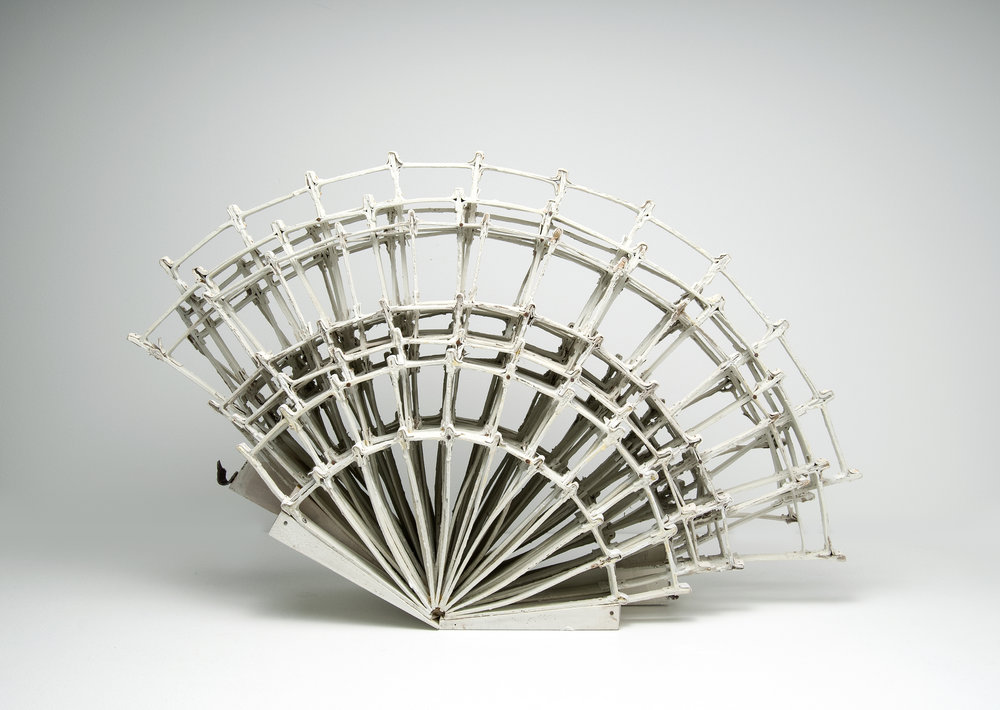 untitled hand fan, sculpture by Maggie Jaszczak