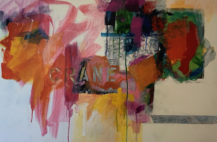 Crane: abstract painting by Ann Knickerbocker