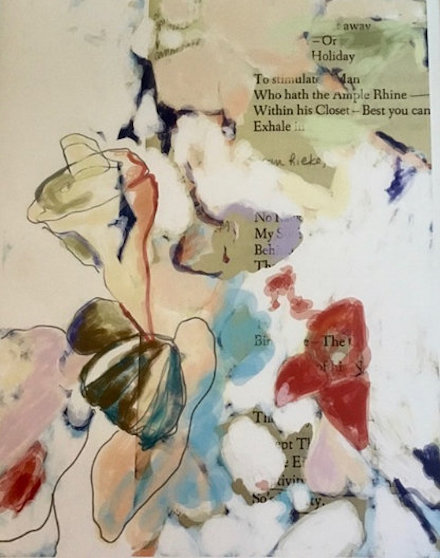 The Ample Rhine: mixed-media painting by Ann Knickerbocker