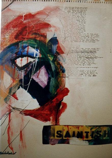 Saintish (Adelaide Series): mixed-media painting by Ann Knickerbocker