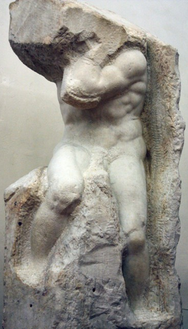 Atlas Slave, sculpture by Michelangelo