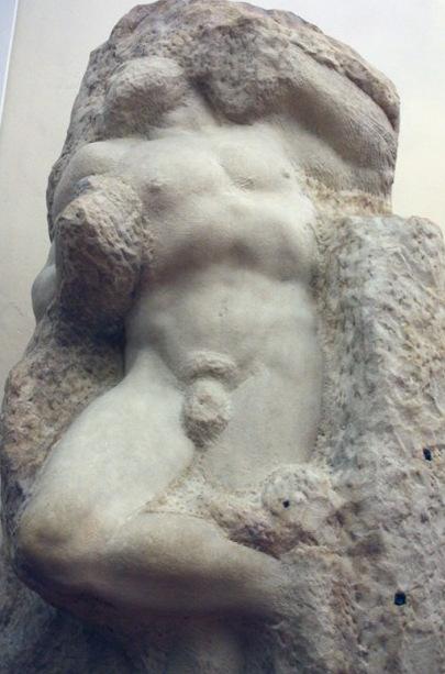Awakening Slave, sculpture by Michelangelo