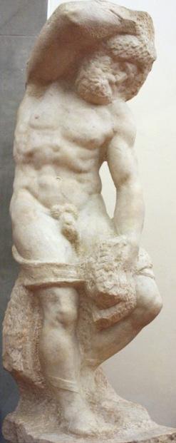 Bearded Slave, sculpture by Michelangelo