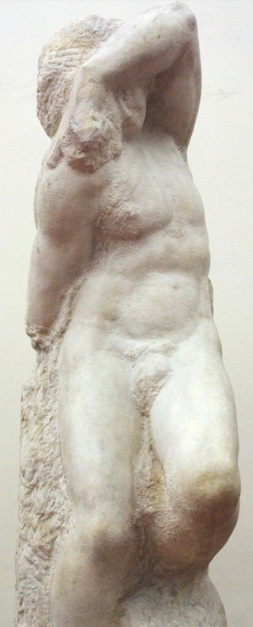 Young Slave, sculpture by Michelangelo
