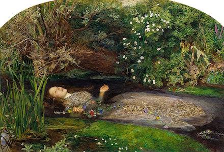Ophelia, 1852 painting by John Everett Millais
