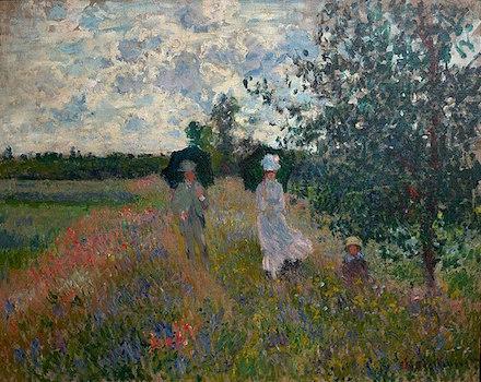 En promenade près d'Argenteuil: painting by Claude Monet