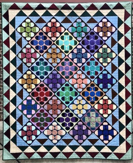 Crosswise II: Art Quilt (2020) by Scott Murkin