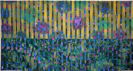 Interstices VIII: Art Quilt (2012) by Scott Murkin