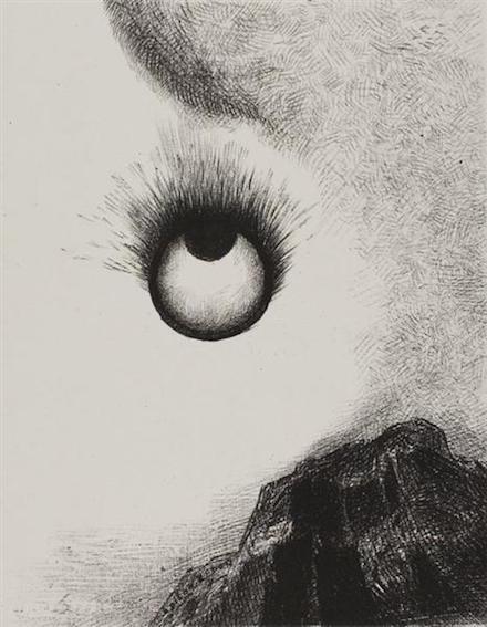 Everywhere Eyeballs Are Blazing: Lithograph by Odilon Redon