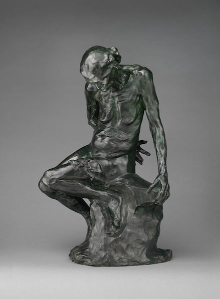 The Old Courtesan: 1910 bronze sculpture by Auguste Rodin