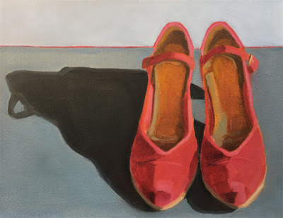 Red High Heels: oil painting by Robin Rosenthal