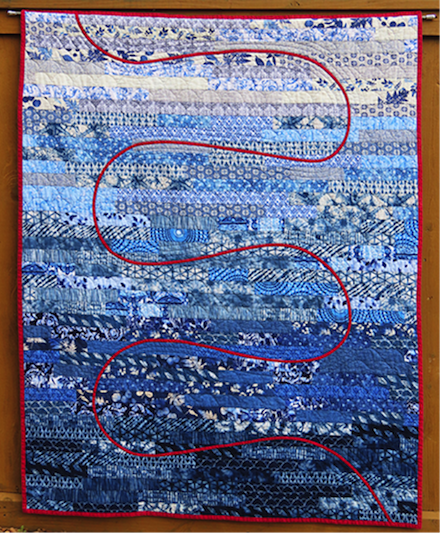 Red Thread: Fabric art by Jan S. Rosin