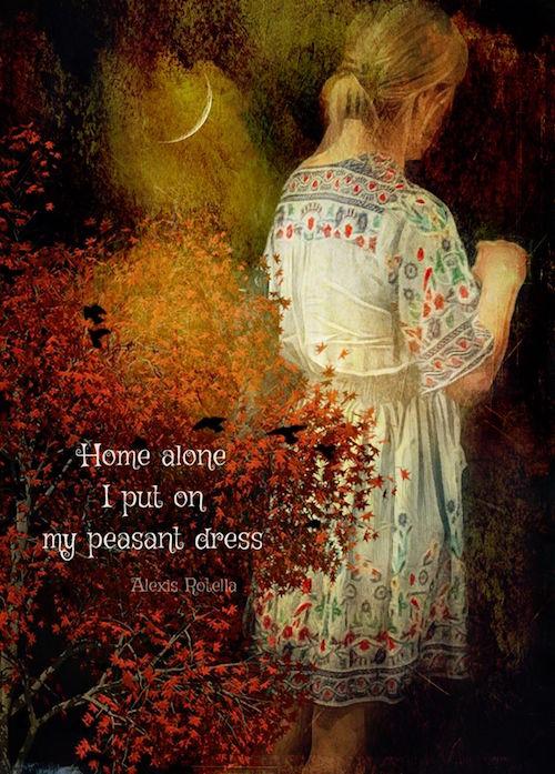 Home alone, haiga by Alexis Rotella