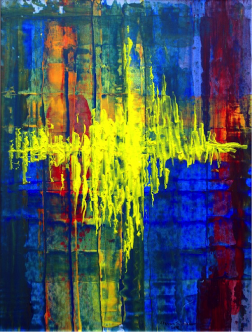 a gift of fire: speaking in tongues, painting by Steven Schroeder