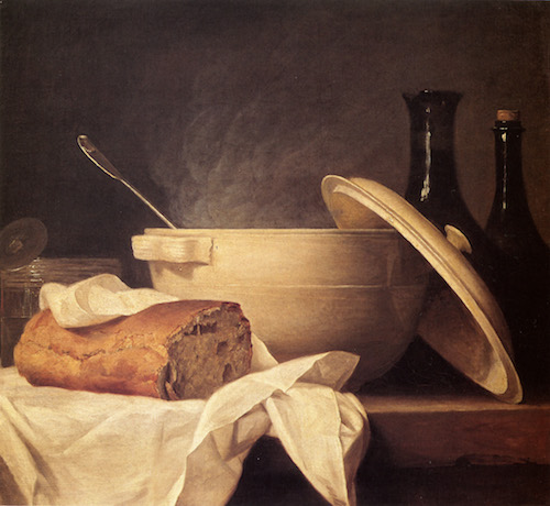 White Soup Bowl: painting by Anne Vallayer-Coster