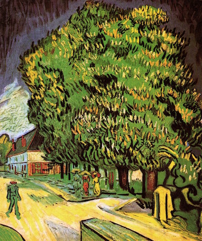 Chestnut Trees in Blossom: painting by Vincent van Gogh
