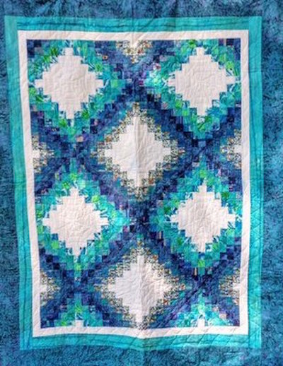 Blue Waters—Maine to Maui: quilt by Karen Forstad Weiderman