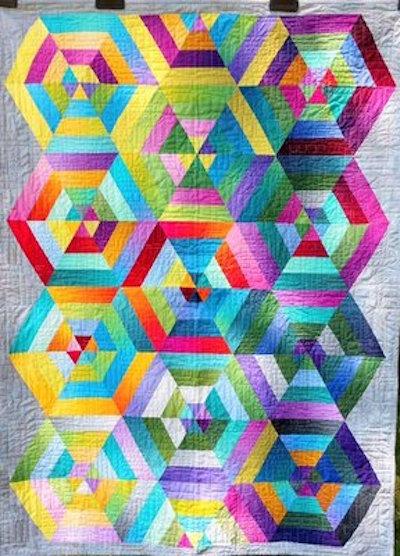 Multiplying Hexagons: quilt by Karen Forstad Weiderman