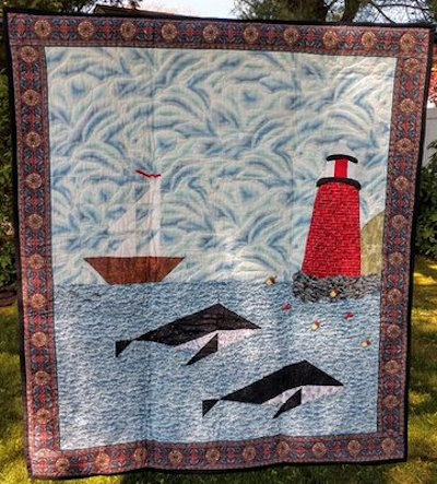 Maine—The Way Life Should Be: quilt by Karen Forstad Weiderman