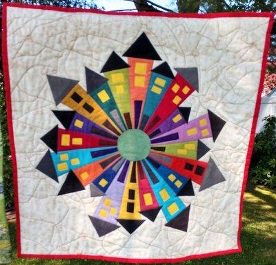 Around the Block: quilt by Karen Forstad Weiderman