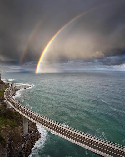 Sea Cliff Bridge: Photograph by David Wimble