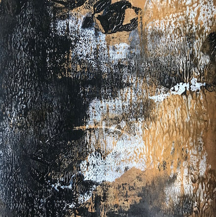 Entropy 3, mixed-media painting by Cynthia Yatchman
