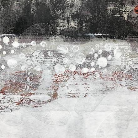 Lambda, mixed-media painting by Cynthia Yatchman