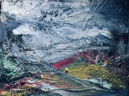 Landscape 5, mixed-media painting by Cynthia Yatchman