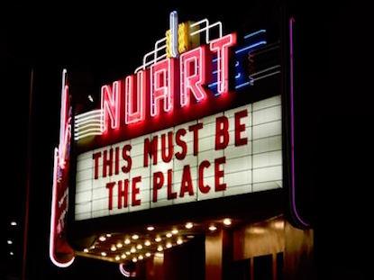 Landmark Nuart Theater: photograph by Jonathan Yungkans