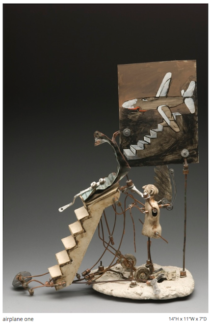 Airplane One, mixed-media sculpture by Aggie Zed
