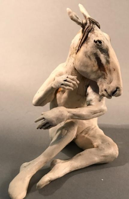 Horseman, ceramic figure by Aggie Zed