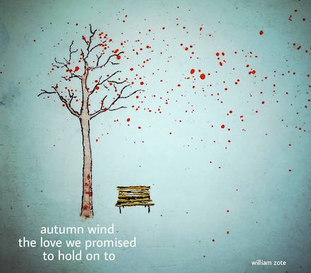Autumn Wind: haiga (with haiku and watercolor art) by William Zote